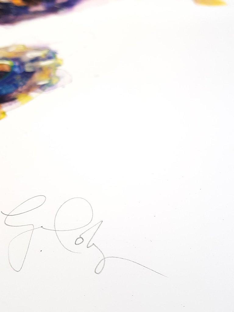 Gavin Dobson, Seahorse, Affordable Art, Screensprint Art - Gray Animal Print by Gavin Dobson
