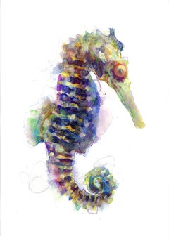 Gavin Dobson, Seahorse, Affordable Art, Screensprint Art