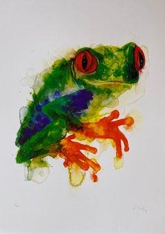 Gavin Dobson, Tree Frog, Limited edition animal print