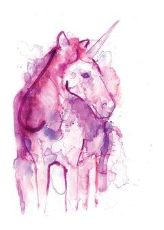 Gavin Dobson, Unicorn, Limited Edition Screen Print, Animal Art for Sale Online