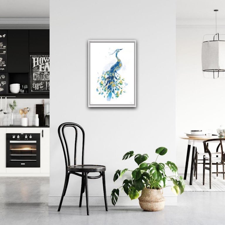 Peacock Gold, Limited Edition Print, Gavin Dobson, Animal Art For Sale 2