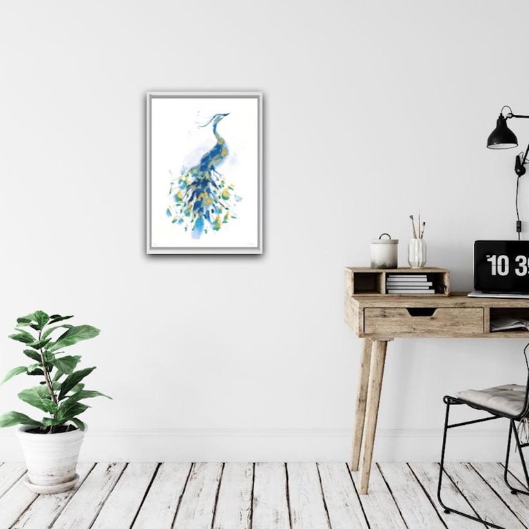 Peacock Gold, Limited Edition Print, Gavin Dobson, Animal Art For Sale 3