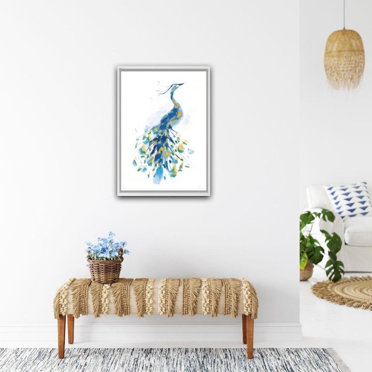 Peacock Gold, Limited Edition Print, Gavin Dobson, Animal Art For Sale 4