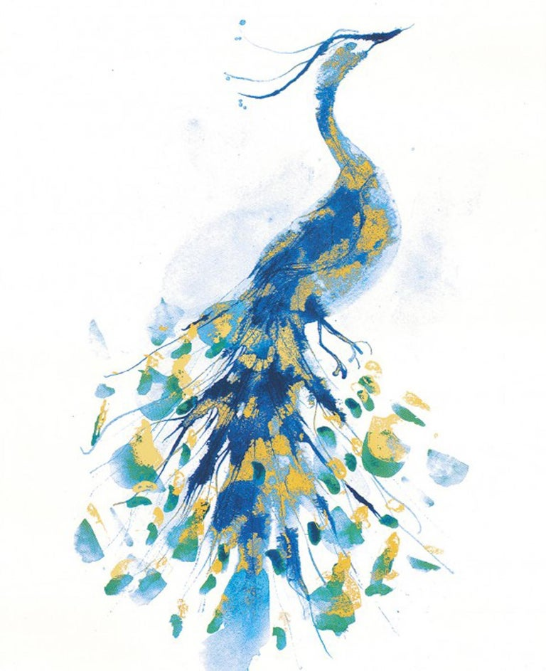 Peacock Gold, Limited Edition Print, Gavin Dobson, Animal Art - Gray Animal Print by Gavin Dobson