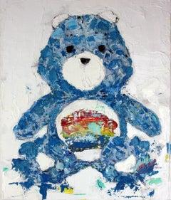 Good Vibrations Bear, Painting, Oil on Canvas