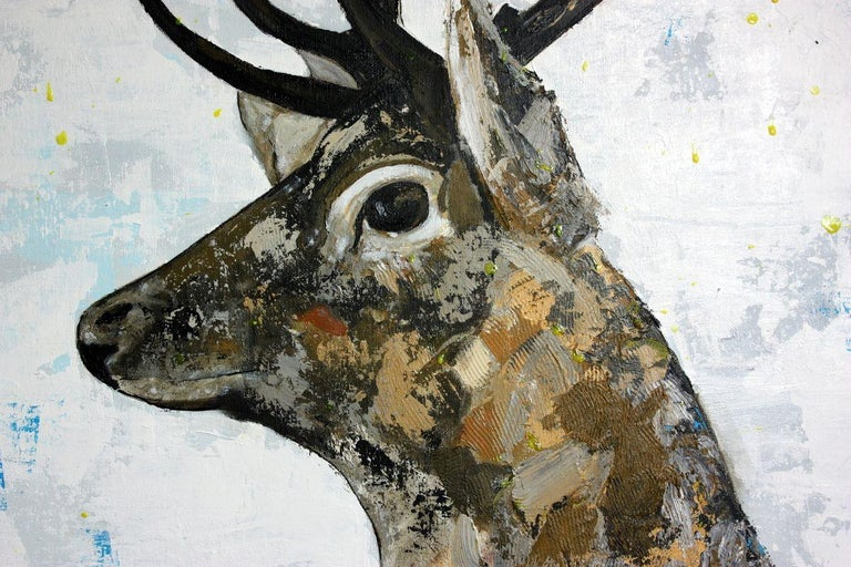 Irish Stag, Painting, Acrylic on Canvas 1