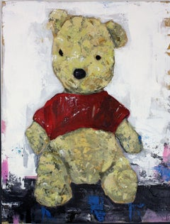 Winnie The Pooh, Painting, Acrylic on Canvas