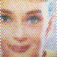 Audrey, 2020 Acrylic on canvas 71 x 71 inches