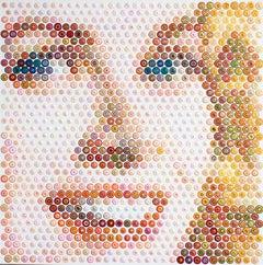 Princess Grace - 21st Century, Contemporary, Figurative Painting, Portrait, Dots