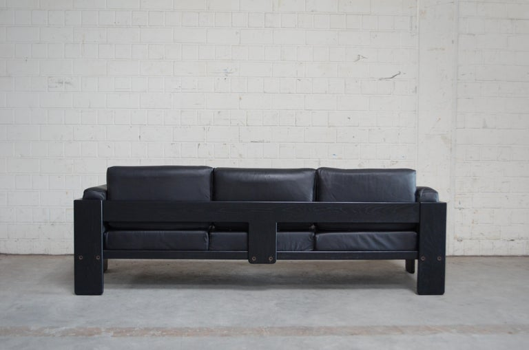Gavina Leather Sofa Model Bastiano design Tobia & Afra Scarpa In Good Condition For Sale In Munich, Bavaria