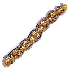 Gay Freres 48 Grams Platinum and 32 Grams 18 Karat Yellow Gold Link Bracelet