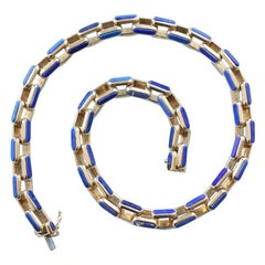 Gay Frères Lapis Lazuli and Gold Chain
