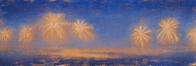 Dahlias in the Night Sky II