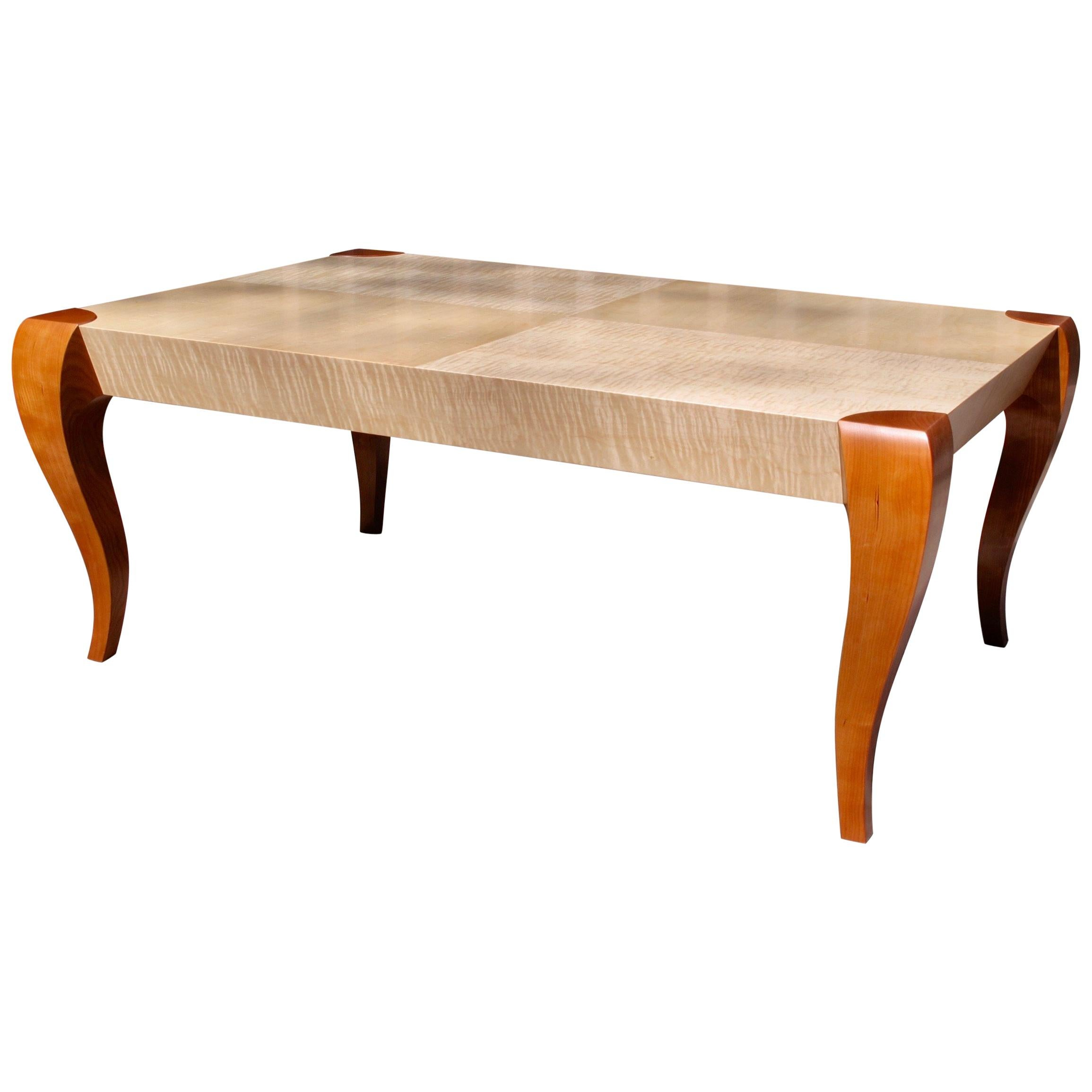 Gazelle Coffee Table, Handcrafted Contemporary Coffee Table in Art Deco Style