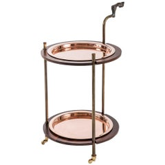 Gazelle Copper, Walnut and Resin Cocktail Bar Cart by Egg Designs