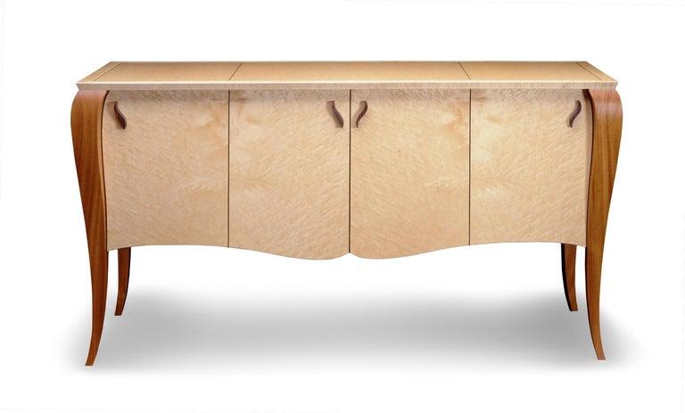 American Gazelle Desk-Custom Handcrafted Contemporary Desk with Scalloped Edge Profile For Sale