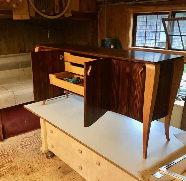 Gazelle Desk-Custom Handcrafted Contemporary Desk with Scalloped Edge Profile In New Condition For Sale In Cumberland, ME