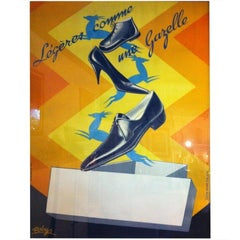 Gazelle French Shoe Poster Signed ''Robys''