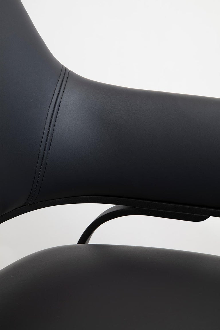 Blackened Gazelle Modern Dining Chair Available with Bronze Patina, Brass, S. Steel Legs For Sale
