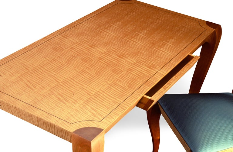 Hand-Crafted Gazelle Writing Table, Handcrafted Contemporary Desk in Art Deco Style For Sale