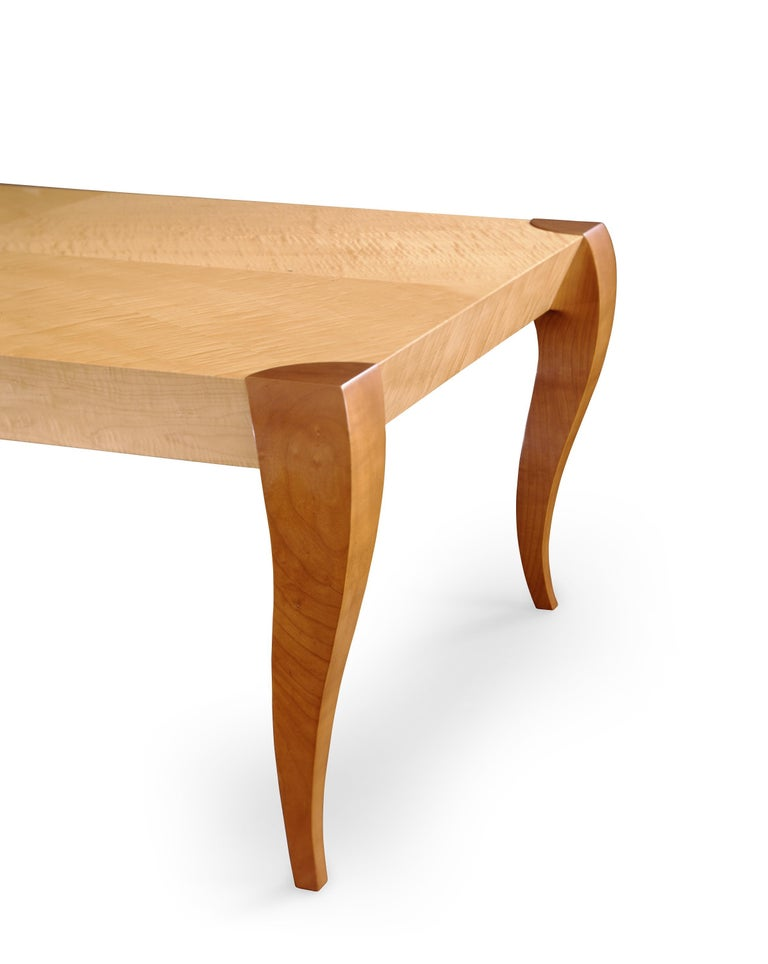 Gazelle Writing Table, Handcrafted Contemporary Desk in Art Deco Style For Sale 1
