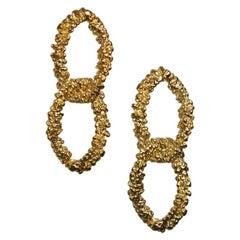 GBGH by Jacqueline Barbosa Ben Duplo Gold Double Hoop Earrings