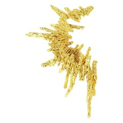 GBGH by Jacqueline Barbosa Gold Parallax Statement Earring
