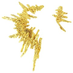 GBGH Jewelry Parallax Earrings in 18k Plated Brass