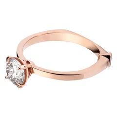 GCAL Certified 18 Karat Gold and 1.01 Carat Diamond Gaia Ring by Alessa