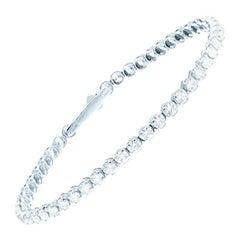 GCAL Certified 18 Karat Gold and 6 Carat Colorless Diamonds Tennis Bracelet