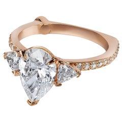 GCAL Certified 18K Rose Gold & 2.59 ctw Diamond Iris Engagement Ring by Alessa