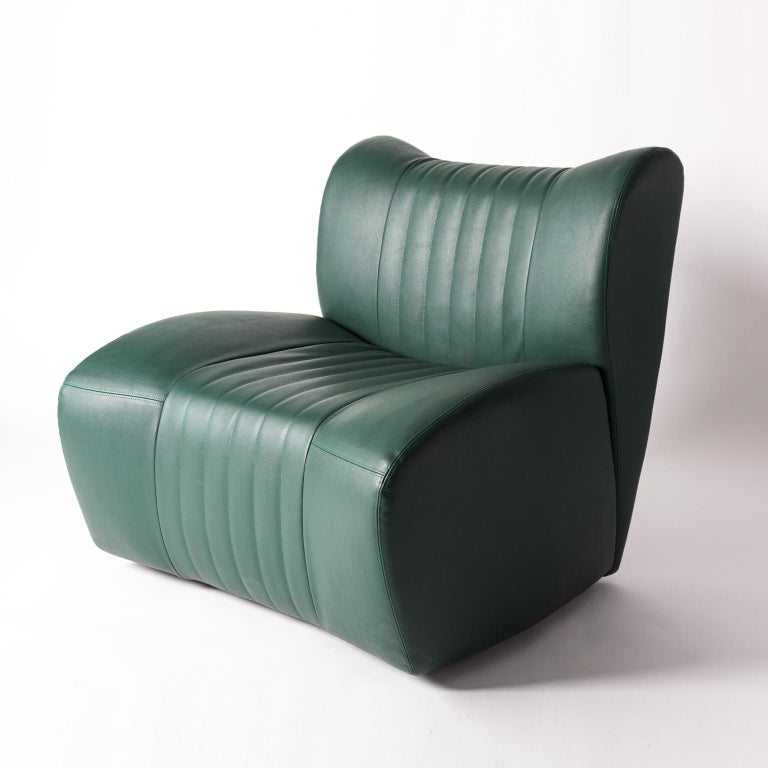 Faux Leather GDA Gentlemen Driving Armchair Spinzi Design
