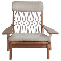 GE 375 Lounge Chair by J. Wegner Special Edition with Original Elastic Webbing