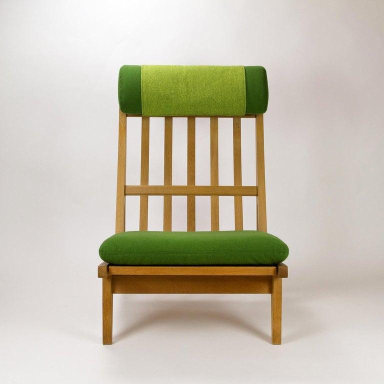 Wool GE 375 Side Chair by Hans Wegner for GETAMA, Denmark, 1960s For Sale