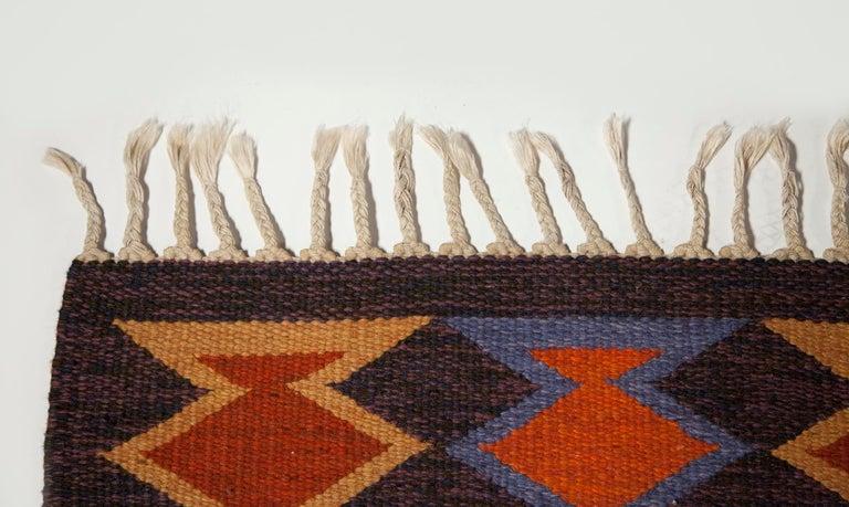 Geate Lantz, Swedish Flat-Weave Rug Signed GL, Sweden, 1960s For Sale 2