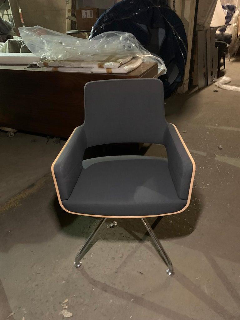 Fabric Gebruder T S 847 D Swivel Armchair For Sale