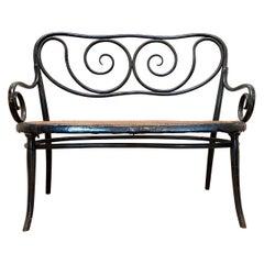 Gebruder Thonet Art Nouveau Bentwood Bench Settee
