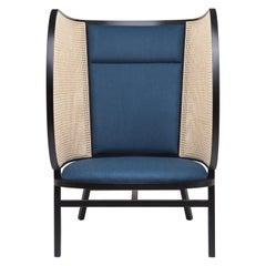 Gebrüder Thonet Vienna GmbH Hideout Lounge Black Chair with Upholstered Backrest