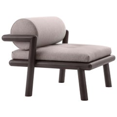 Gebrüder Thonet Vienna GmbH Hold On Armchair in Wenge with Upholstered Seat