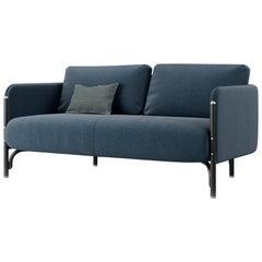Gebrüder Thonet Vienna GmbH Jannis 2-Seater Sofa in Foam with Blue Upholstery