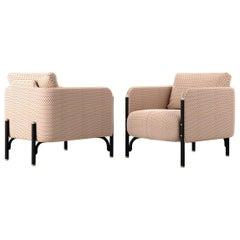 Gebrüder Thonet Vienna GmbH Jannis Lounge Chair in Foam with Beige Upholstery