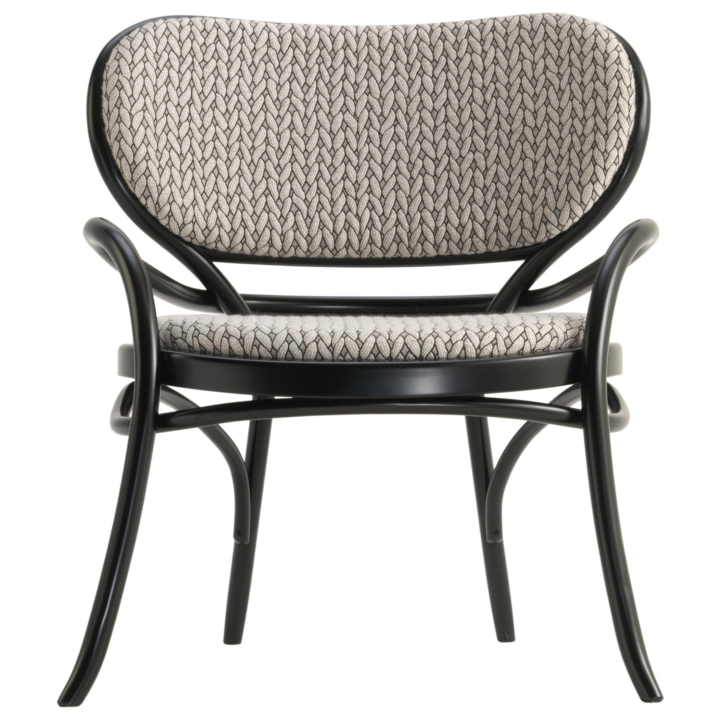 Gebrüder Thonet Vienna GmbH Lehnstuhl Lounge Chair with Upholstered Seat