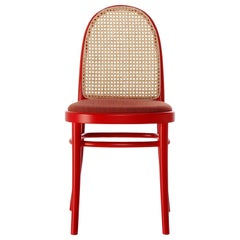 Gebrüder Thonet Vienna GmbH Morris Low Back Flame Red Chair in Upholstered Seat