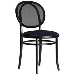 Gebrüder Thonet Vienna GmbH N.0 Black Chair with Mesh & Upholstered Seat