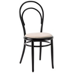 Gebrüder Thonet Vienna GmbH N.14 Chair in Black with Upholstered Seat