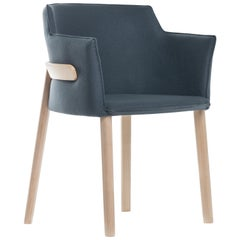 Gebrüder Thonet Vienna GmbH Pince Armchair in Beech with Upholstered Seat