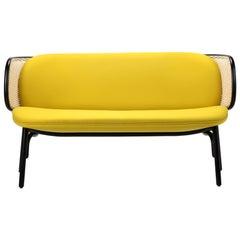 Gebrüder Thonet Vienna GmbH Suzenne Sofa in Yellow and Black Frame
