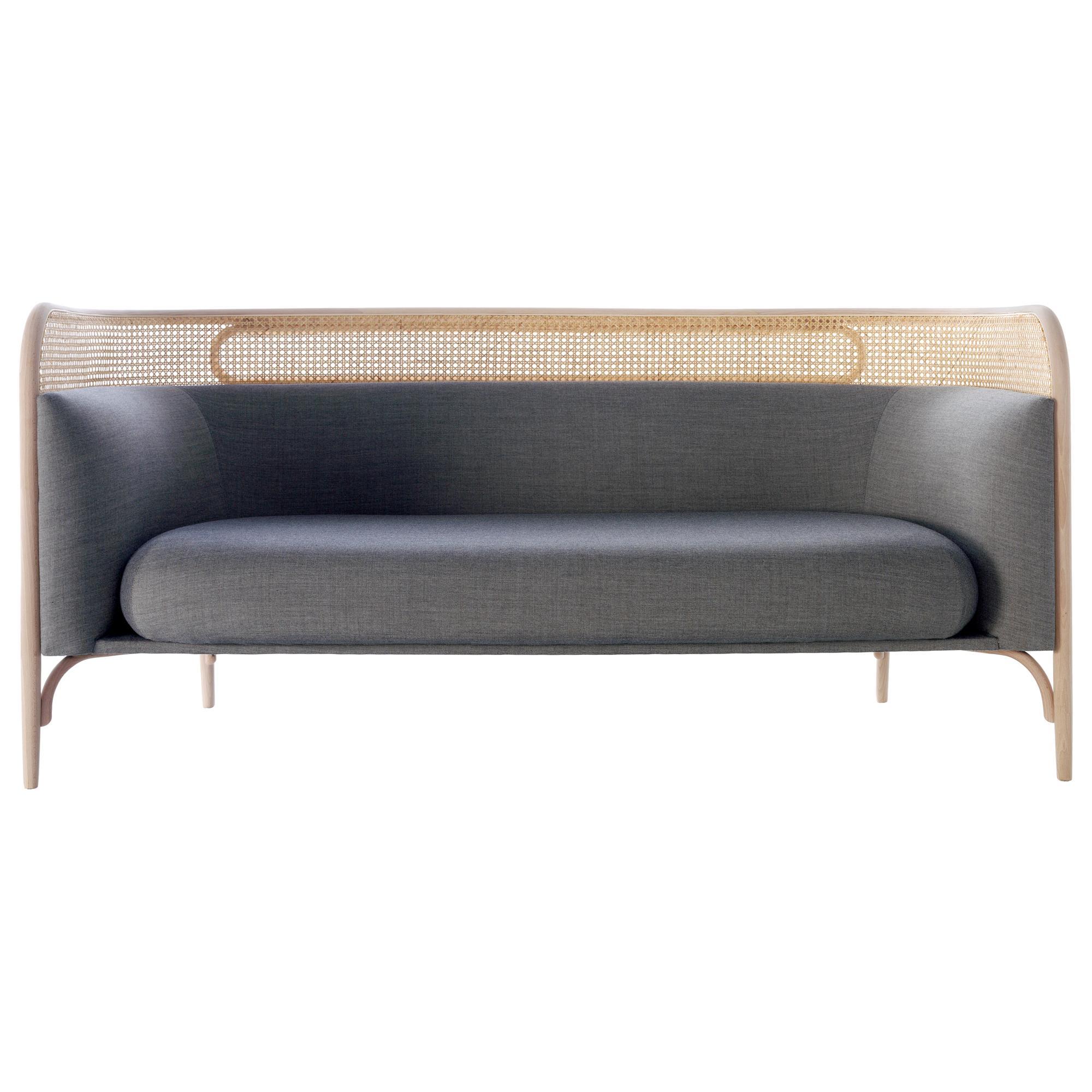 Gebrüder Thonet Vienna GmbH Targa Sofa in Beech with Upholstery by Gamfratesi