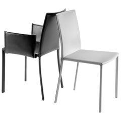 Gebrüder Thonet Vienna GmbH Twiggy Armchair in Steel with Black & Backrest