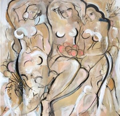 Demoiselles by Gee Gee Collins Large Figurative Contemporary painting